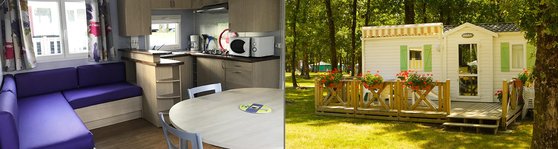 Hébergements en camping près du Futuroscope: bandeau hébergement